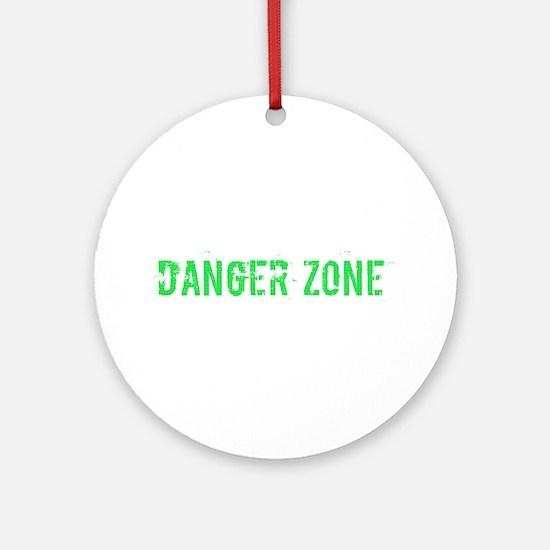 Danger Zone Round Ornament