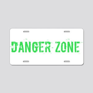 Danger Zone Aluminum License Plate