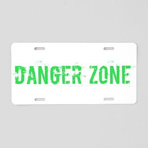 Danger Zone Aluminum License Plate