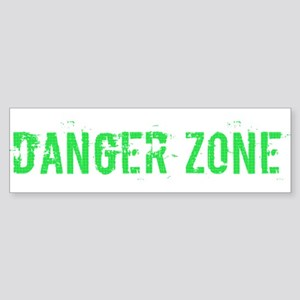 Danger Zone Bumper Sticker