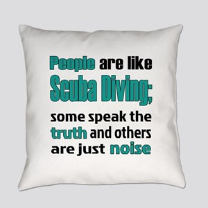 People are like Scuba Diving Everyday Pillow