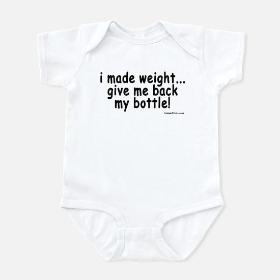 i made weight! Infant Bodysuit