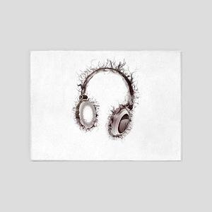 Headphones soul music 5'x7'Area Rug