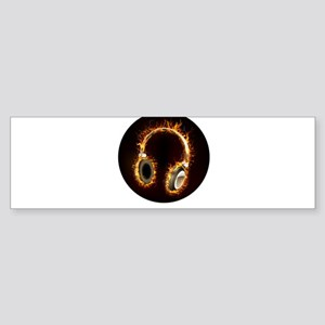 Headphones soul music Bumper Sticker