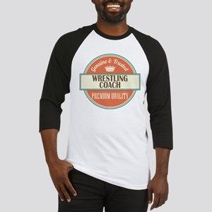 wrestling coach vintage logo Baseball Jersey