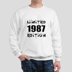 Limited 1987 Edition Birthday Designs Sweatshirt