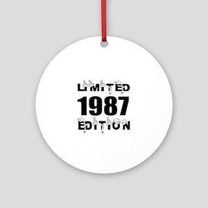 Limited 1987 Edition Birthday Desig Round Ornament