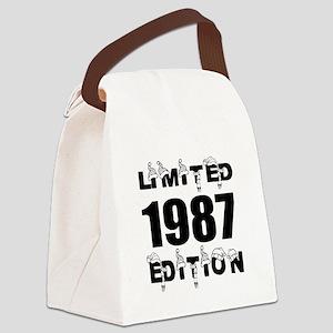 Limited 1987 Edition Birthday Des Canvas Lunch Bag