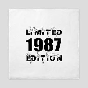 Limited 1987 Edition Birthday Designs Queen Duvet
