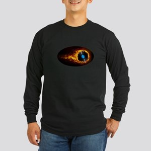 Flaming record ghost Long Sleeve T-Shirt
