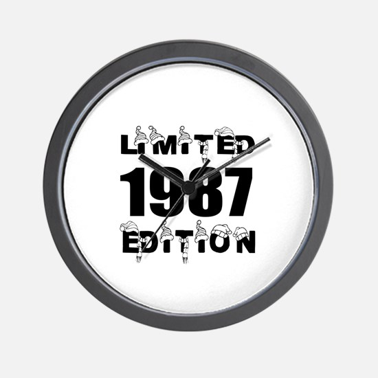 Limited 1987 Edition Birthday Designs Wall Clock