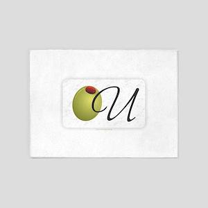 Olive U White 5'x7'Area Rug