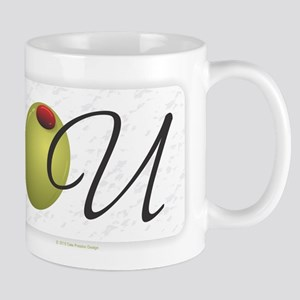 Olive U White Mugs