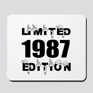 Limited 1987 Edition Birthday Designs Mousepad