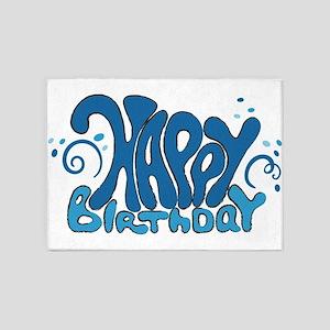 Happy birthday looney fun 5'x7'Area Rug