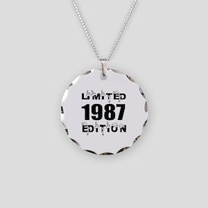 Limited 1987 Edition Birthda Necklace Circle Charm