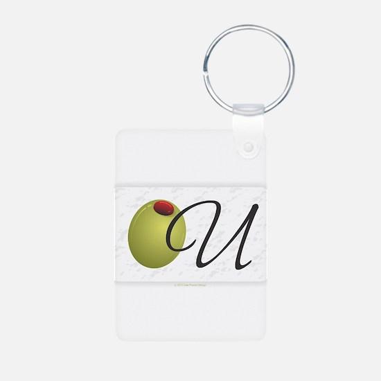 Olive U White Keychains