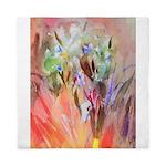 Irises watercolor Queen Duvet