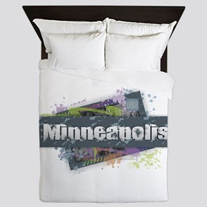 Minneapolis Design Queen Duvet