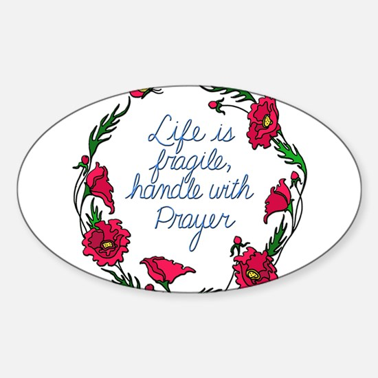 Flower Wreath QUOTE Handle with Prayer Decal