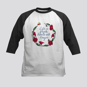 Flower Wreath QUOTE Handle with Pr Baseball Jersey