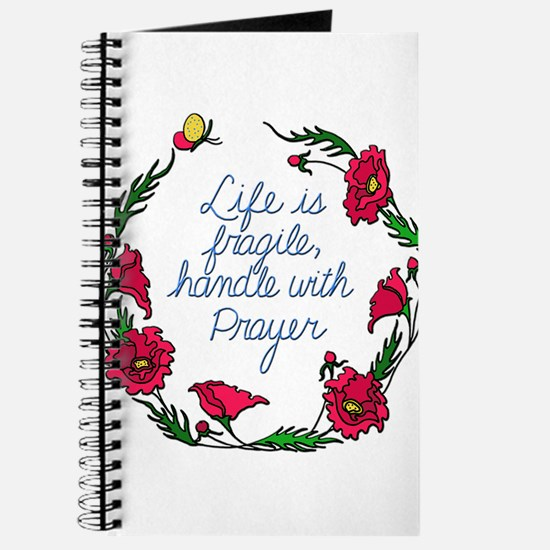 Flower Wreath QUOTE Handle with Prayer Journal