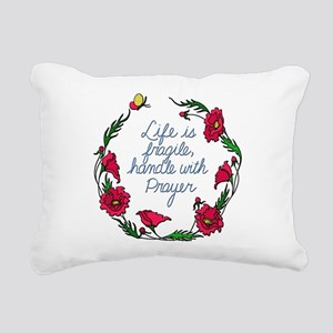 Flower Wreath QUOTE Hand Rectangular Canvas Pillow