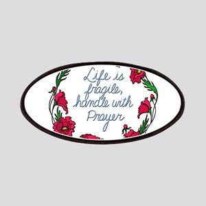 Flower Wreath QUOTE Handle with Prayer Patch