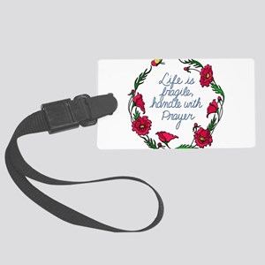 Flower Wreath QUOTE Handle with Large Luggage Tag