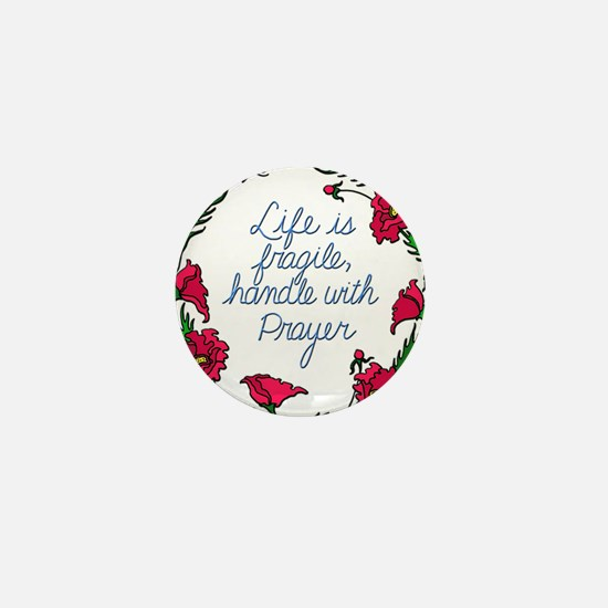 Flower Wreath QUOTE Handle with Prayer Mini Button