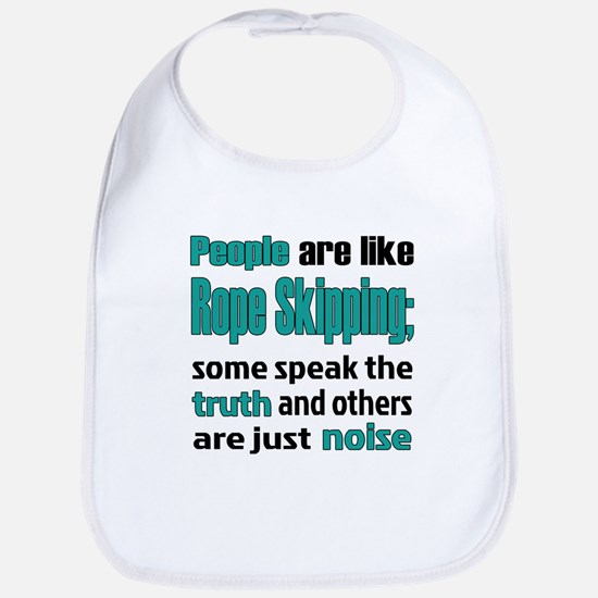 People are like Rope Skipping Cotton Baby Bib