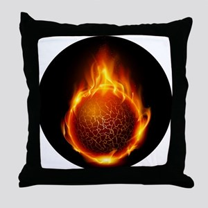 Soul on fire Throw Pillow