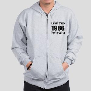 Limited 1986 Edition Birthday Designs Zip Hoodie