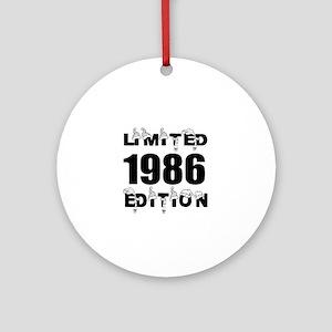 Limited 1986 Edition Birthday Desig Round Ornament