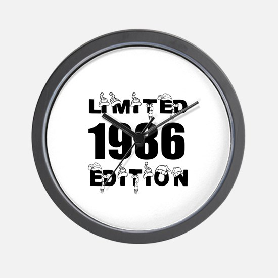 Limited 1986 Edition Birthday Designs Wall Clock