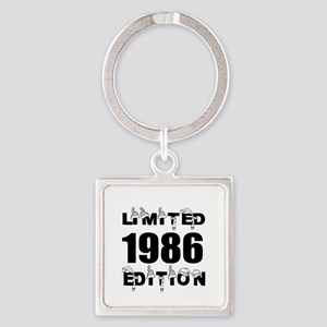 Limited 1986 Edition Birthday Desi Square Keychain