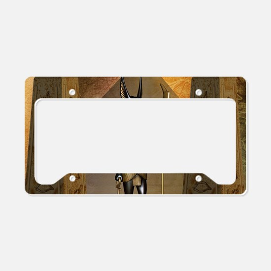 Anubis the egyptian god License Plate Holder