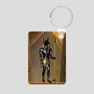 Anubis the egyptian god Keychains