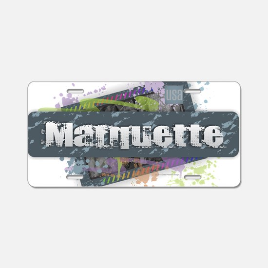 Marquette Design Aluminum License Plate