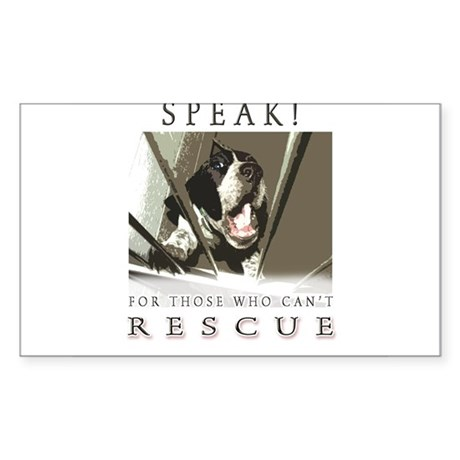 Speak! Rescue Rectangle Sticker