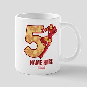 Personalized Iron Man Age 5 Mug