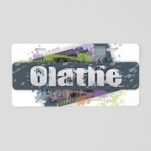 Olathe Design Aluminum License Plate