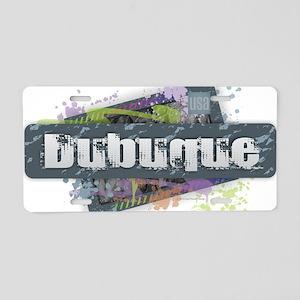 Dubuque Design Aluminum License Plate