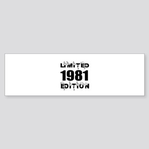Limited 1981 Edition Birthday Des Sticker (Bumper)
