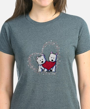 Allstar Westie Love Women's Dark T-Shirt