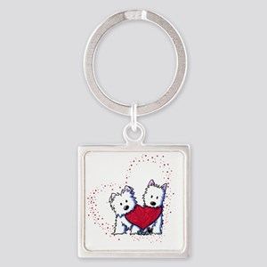 Allstar Westie Love Square Keychain
