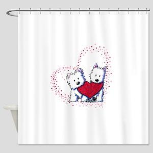 Allstar Westie Love Shower Curtain