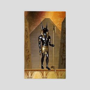 Anubis the egyptian god Area Rug