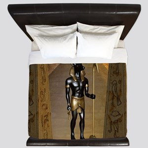 Anubis the egyptian god King Duvet