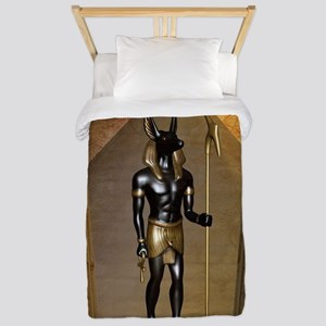 Anubis the egyptian god Twin Duvet Cover